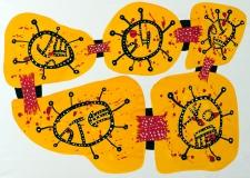 Den organiske gul af Ole Valdemar Nielsen - gouache