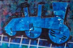 Lokomotiv 1 - en hyldest til Olga af Ole Valdemar Nielsen - ecoline og tusche