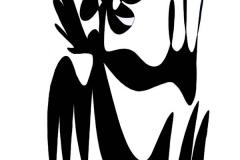 Engle i Tivoli - tegning af Ole Valdemar Nielsen
