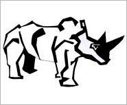 næsehorn tegning af ole valdemar nielsen