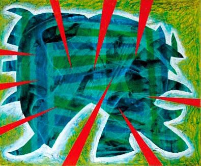 Oliemaleri af kunstneren Ole Valdemar Nielsen